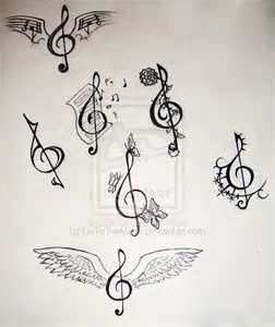 tattoos treble clef tattoo ink i want music tattoos. Black Bedroom Furniture Sets. Home Design Ideas