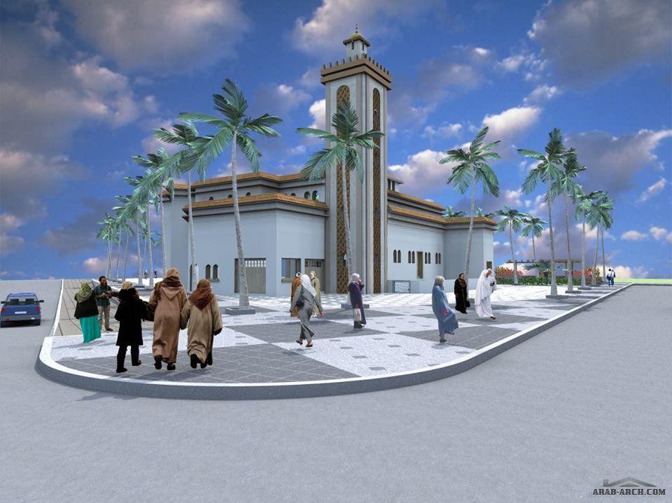 تصاميم لمسجد ثلاثى الابعاد المصمم المهندسlotfi Abou El Kouroum Street View Mosque Landmarks