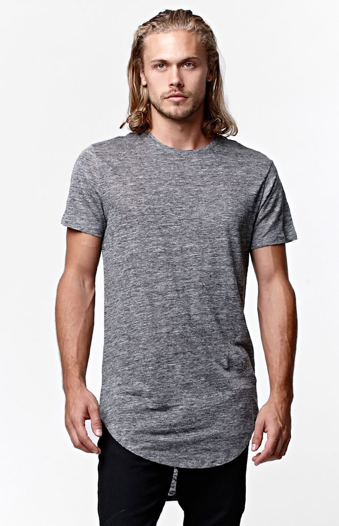 f00f4ad08c0d Reign+Storm Linen Scallop Longline T-Shirt. Find this Pin and more on MEN  FASHION ...
