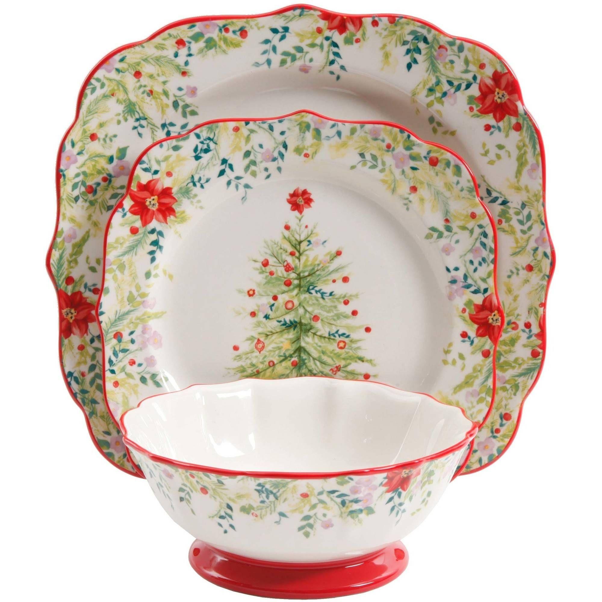 buy the pioneer woman holiday cheer 12 piece dinnerware set at walmartcom