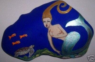 Singing Mermaid painted on a Rock-NEPFA (11/03/2007)
