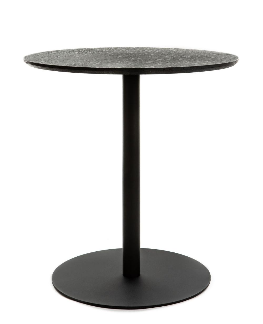 Table Ronde Terrazzo Xl Boom Noir Made In Design En 2020 Mobilier Design Terrazzo Et Mobilier