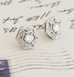 Deco Diamond Earrings with Removable Jackets | Erica Weiner