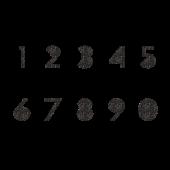 おしゃれ で かっこいい 数字 のスタンプ 白黒 イラスト 数字 数字デザイン スタンプ