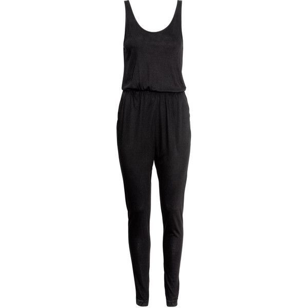 528a6d6e3e H M Sleeveless jumpsuit ( 20) ❤ liked on Polyvore featuring jumpsuits