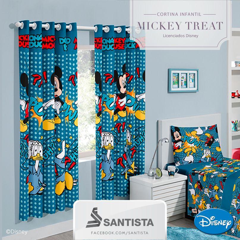 Cortina Infantil Mickey Treat  Licenciados Disney