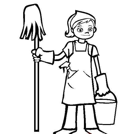 Yardımlaşma Boyama Sayfası Evde Yapılan Işler Boyama Sayfası Evde