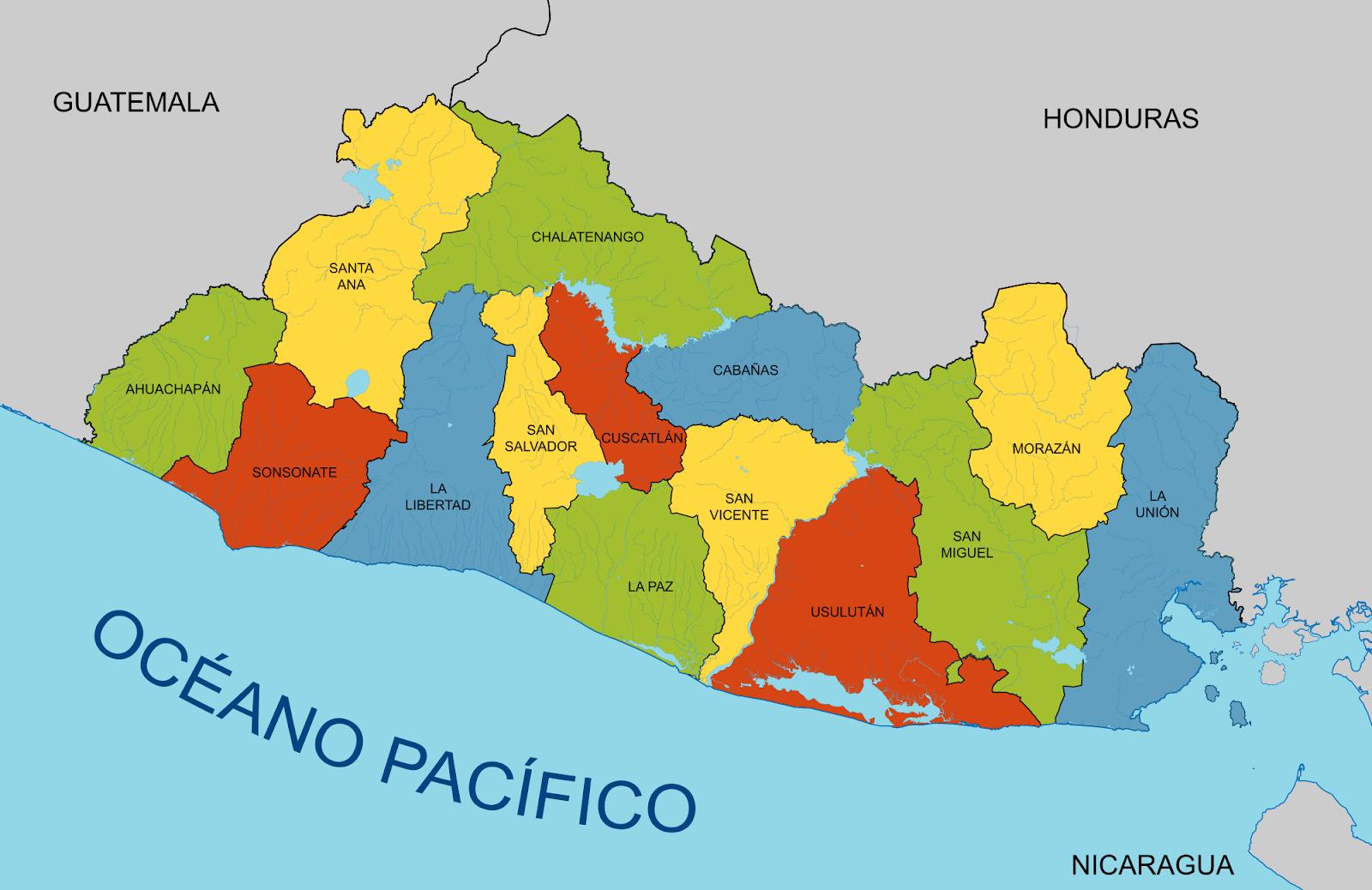 Mapas Geograficos De El Salvador Map Libertad La Union