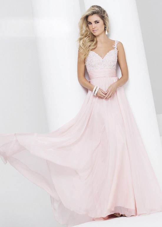 Fitted bodice evening dresses