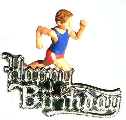 Male Runner Or Jogger Resin Birthday Cake Decoration
