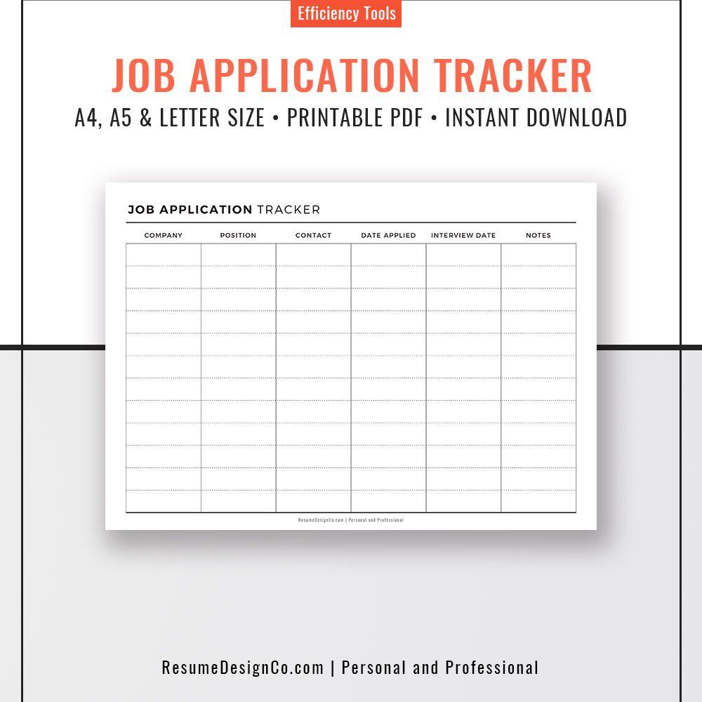 planner refills job application tracker a4 a5 letter size