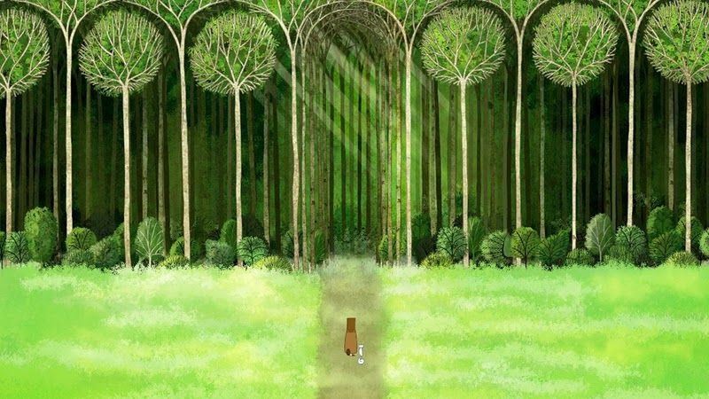 """Scene from """"The Secret of Kells"""", a 2009 animated film. The most beautifully drawn animated movie I've ever seen. You must see it."""