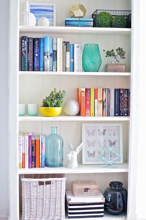 UHeart Organizing Bookshelf Styling Tips Libreros, Estantes para