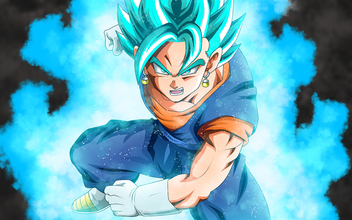 Download Wallpapers 4k Goku Dragon Ball Blue Hair Son Goku Dbz Besthqwallpapers Com Dragon Ball Super Wallpapers Super Saiyan Blue Dragon Ball