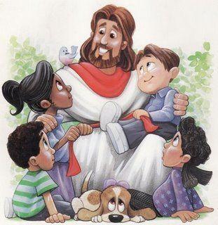 dibujos de jesus y los nios para imprimir  Buscar con Google