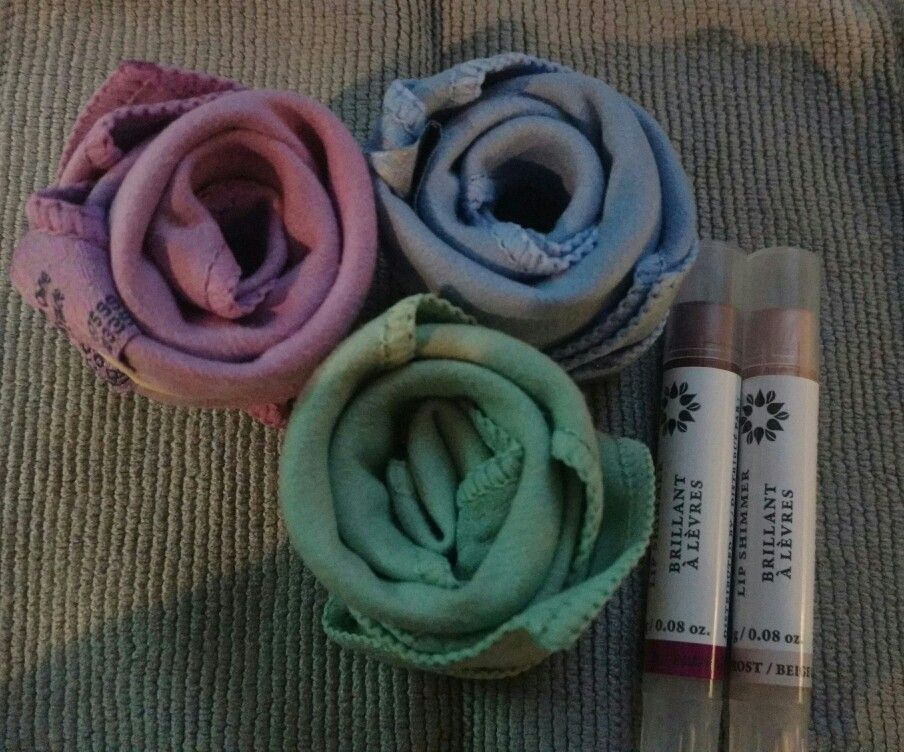 Cloth Roses Norwex Makeup Removal Cloths Lip shimmers