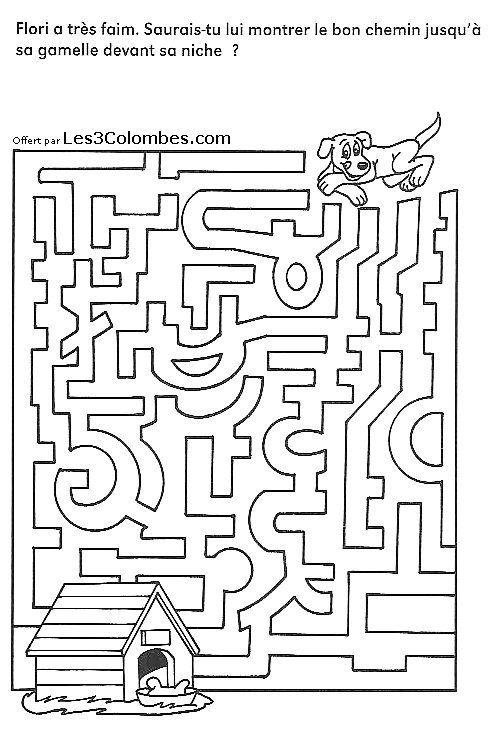 Labyrinthe gratuit 01 mazes pinterest labyrinthe - Labyrinthe dessin ...