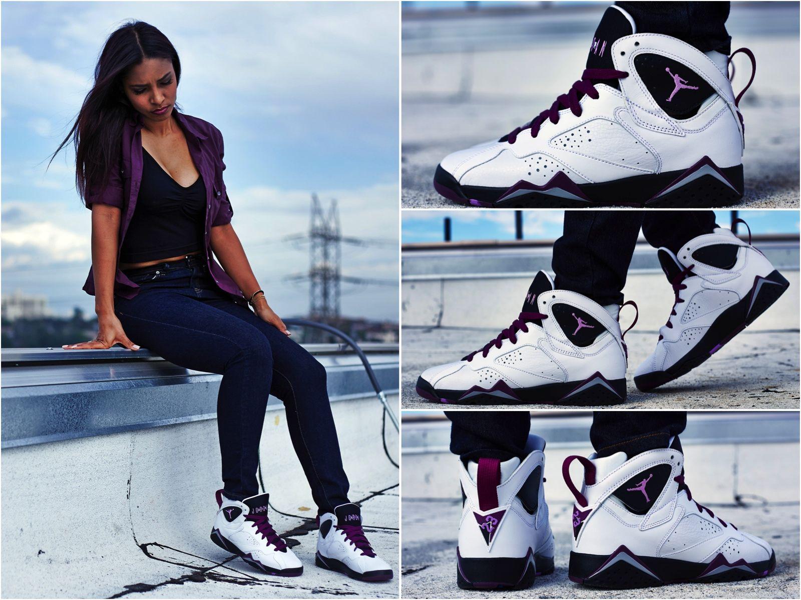 "d83bca6120e ON-FOOT LOOK // AIR JORDAN 7 GS ""MULBERRY"" | On-Foot Look (Women's ..."
