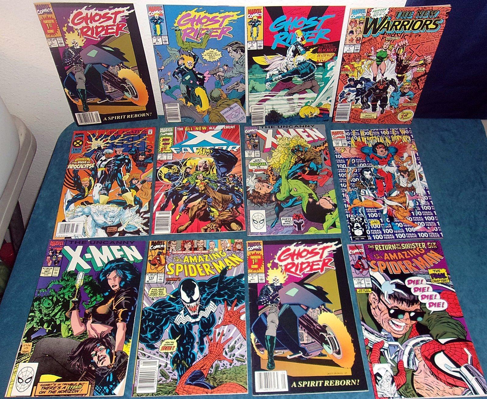 16  Key Marvel 1990S Comicsuncanny X Menspidermanghost Rider