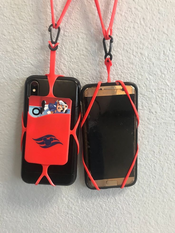 Strappy mobile phone holder with pocket and Lanyard/Fish