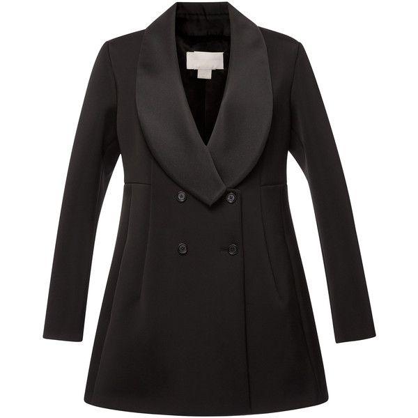 Antonio Berardi Satin Neoprene Oversize Tuxedo Jacket ($3,615) ❤ liked on Polyvore