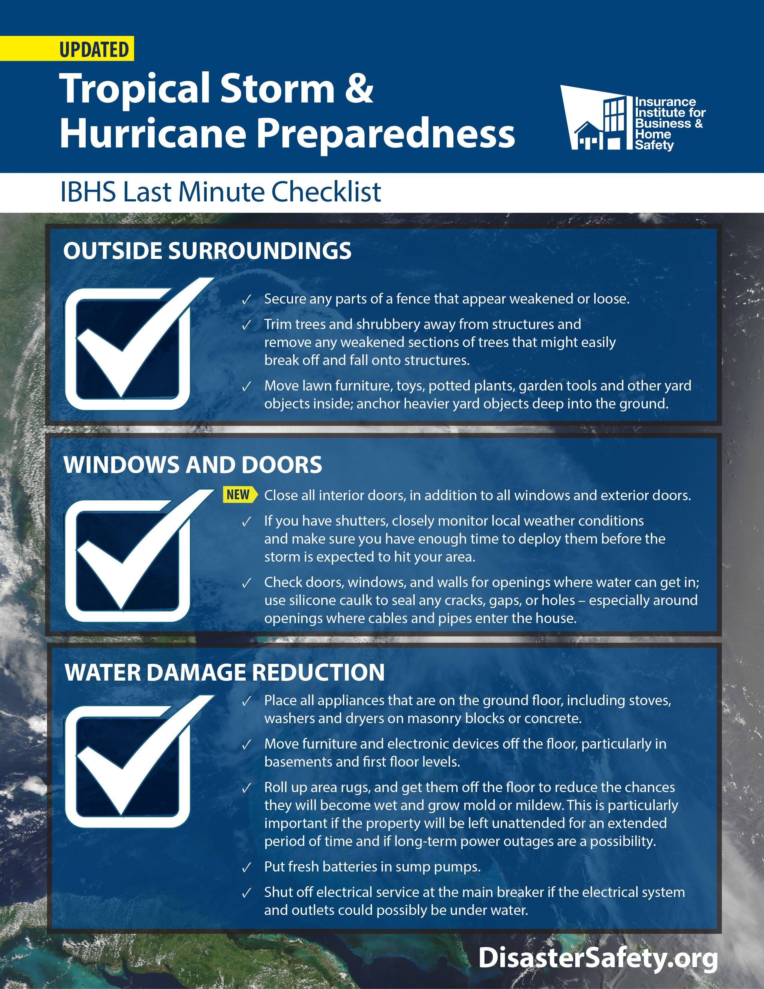 Last Minute Checklist With Images Hurricane Preparedness Hurricane Preparedness Checklist Hurricane Season
