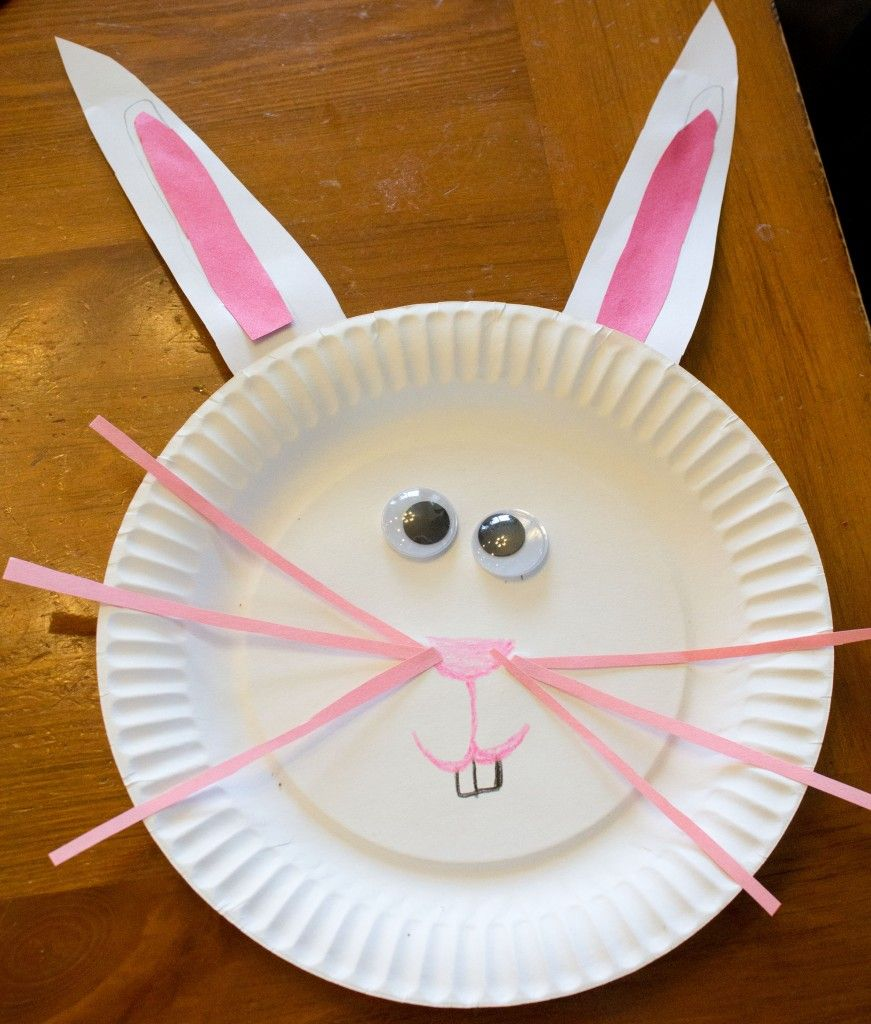 Craft: Paper Plate Easter Bunny Craft. Great For Toddlers And
