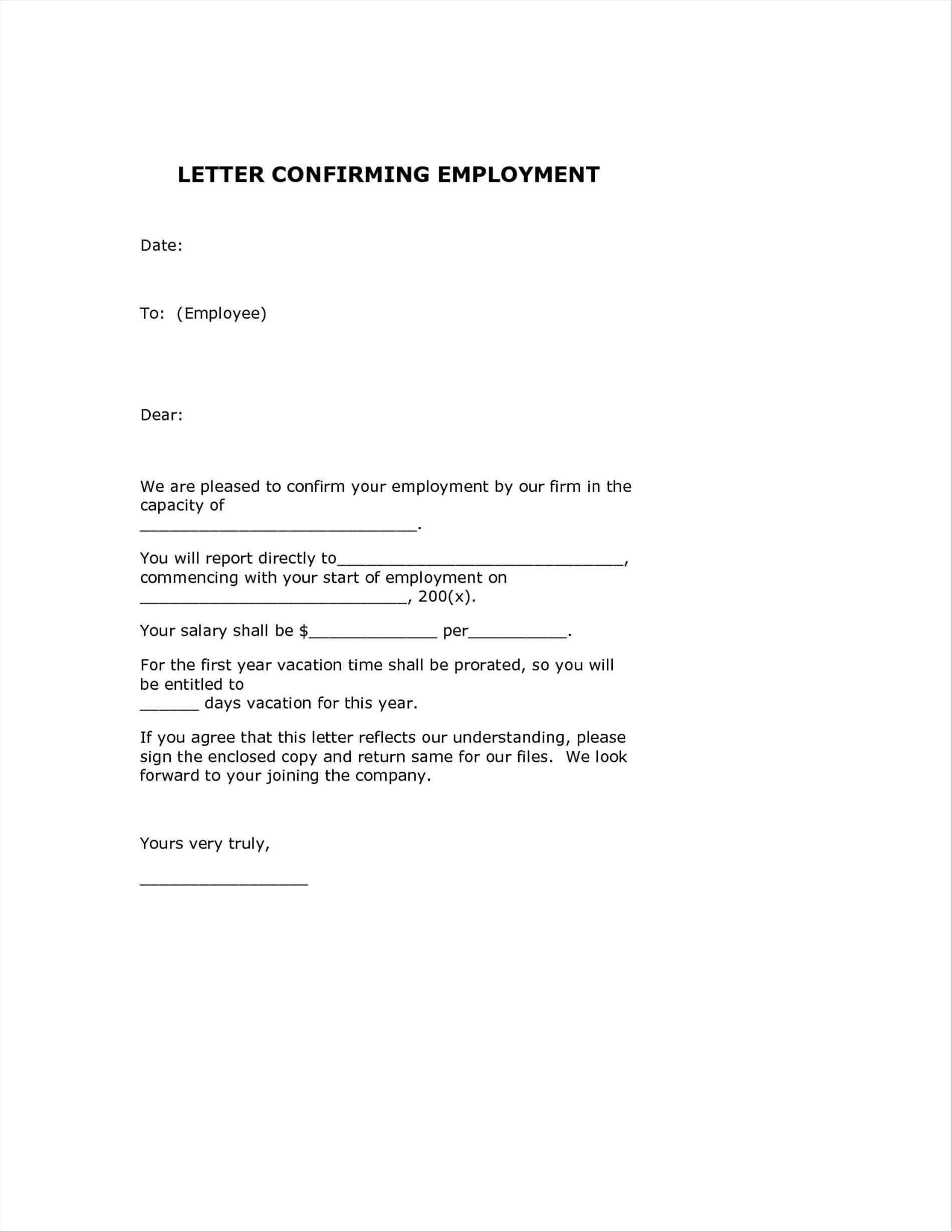 Valid Thanks Letter for Confirmation Of Job you can
