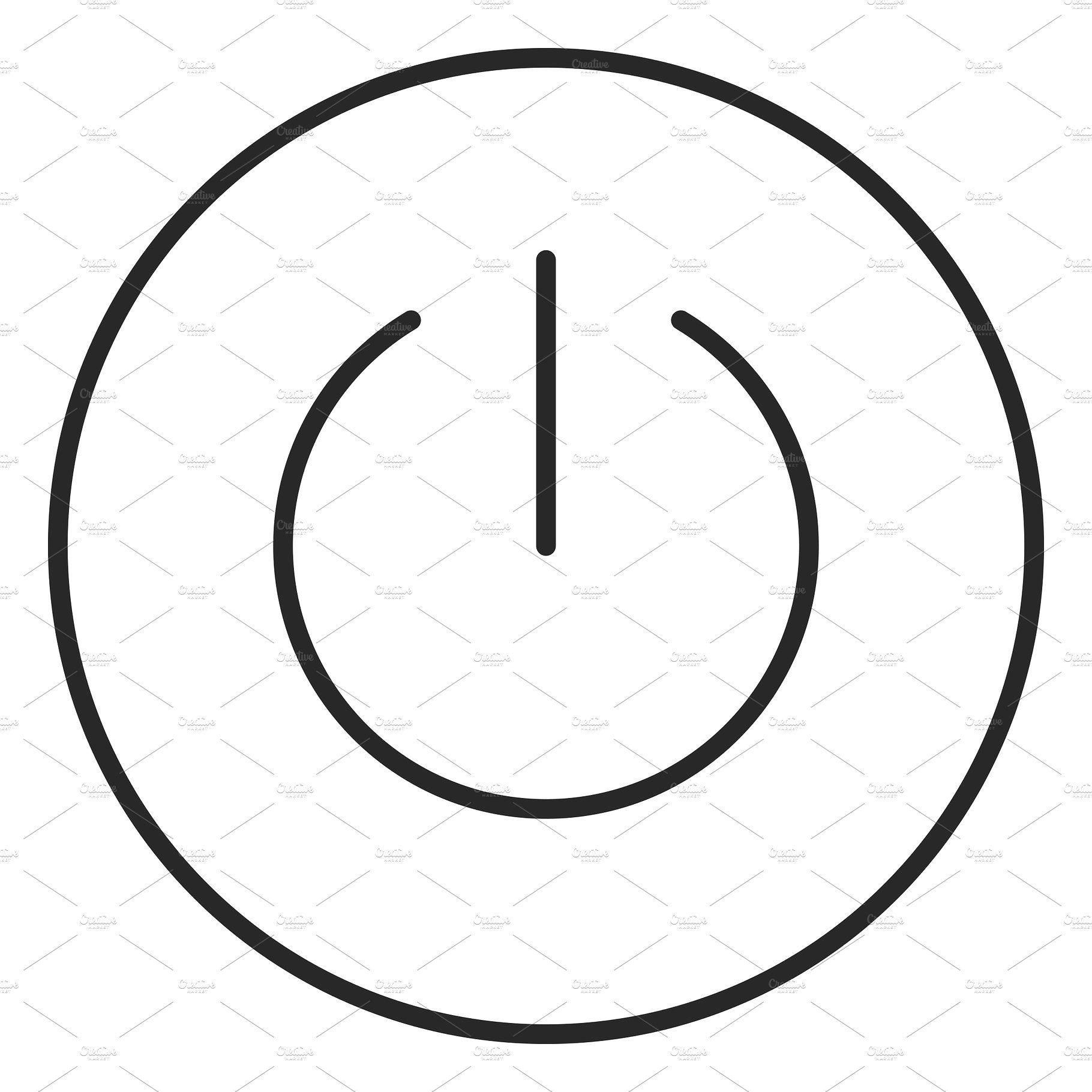 Power Button Stroke Icon Logo Button Power Icon