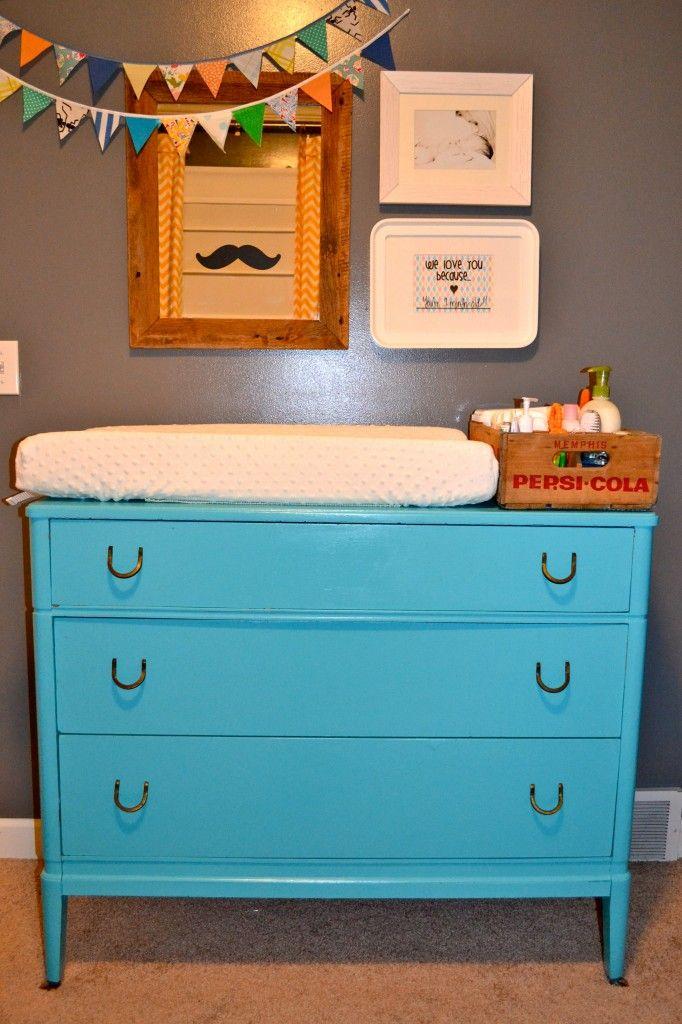 Bennett's Room | Dresser changing tables, Vintage dressers ...