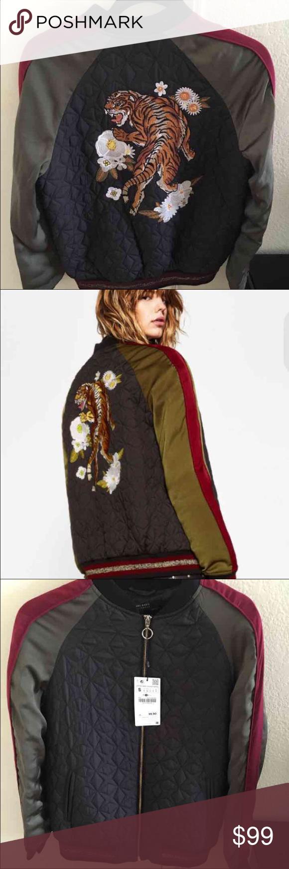 37abf8503199 Zara tiger bomber jacket Size small, new with tags!! Zara Jackets & Coats