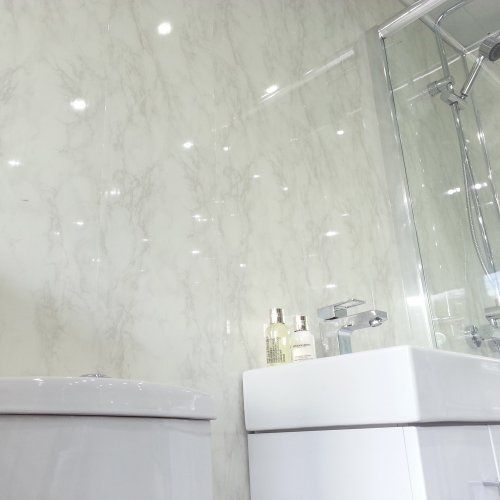 Amazing White Marble Effect Gloss PVC Wall Cladding Panels