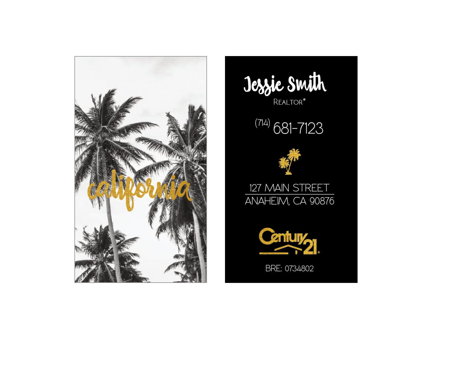 Realtor business cards california palm tree gold modern keller realtor business cards california palm tree gold modern keller williams gloss or matte color free ups shipping century 21 re max by realestatedesigns on colourmoves