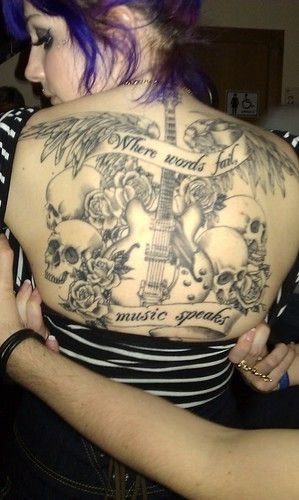 Photo of Amazing Back Lettering Tattoo For Music Lovers  via WordPress ift.tt/1pMBJ08  Po…