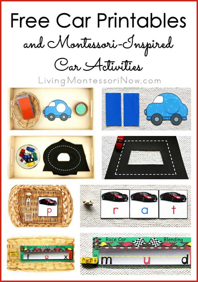 Free Car Printables And Montessori Inspired Car Activities
