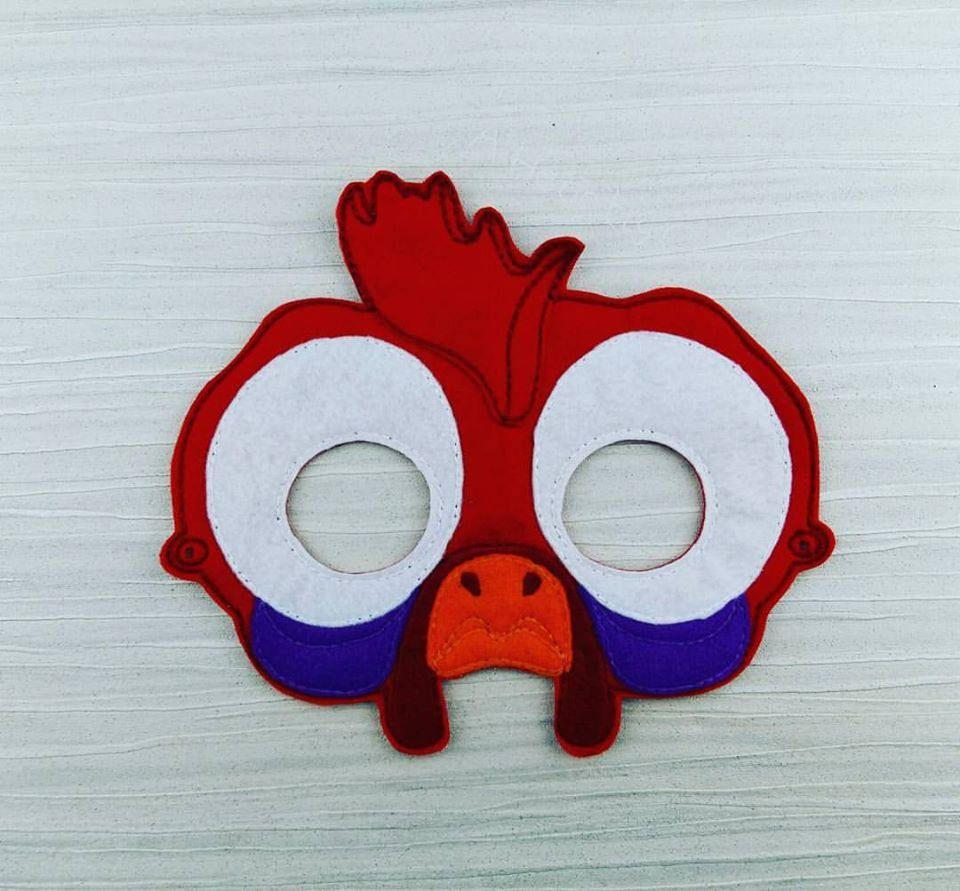 Silly Chicken Mask - Chicken Felt Mask - Soft Mask - Moana Mask ...