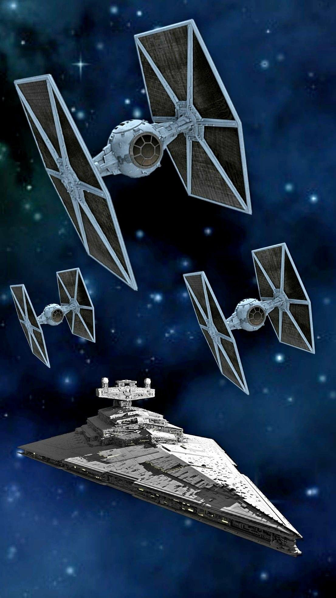 Imperial Star Destroyer sending out 3 Tie fighters. | Sci-Fi ...