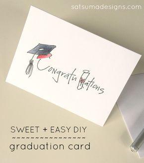 Diy Graduation Card Satsuma Designs Graduation Cards Diy Graduation Card Diy Diy Graduation Cards