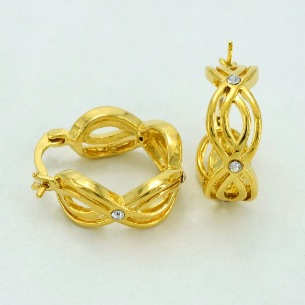 jewelry compatible store quality daisy gold white special earrings stud a enamel earring darling cz clear tocgiare with good net u colour