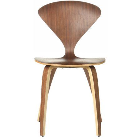 Cherner Inspired Side Chair, Brown