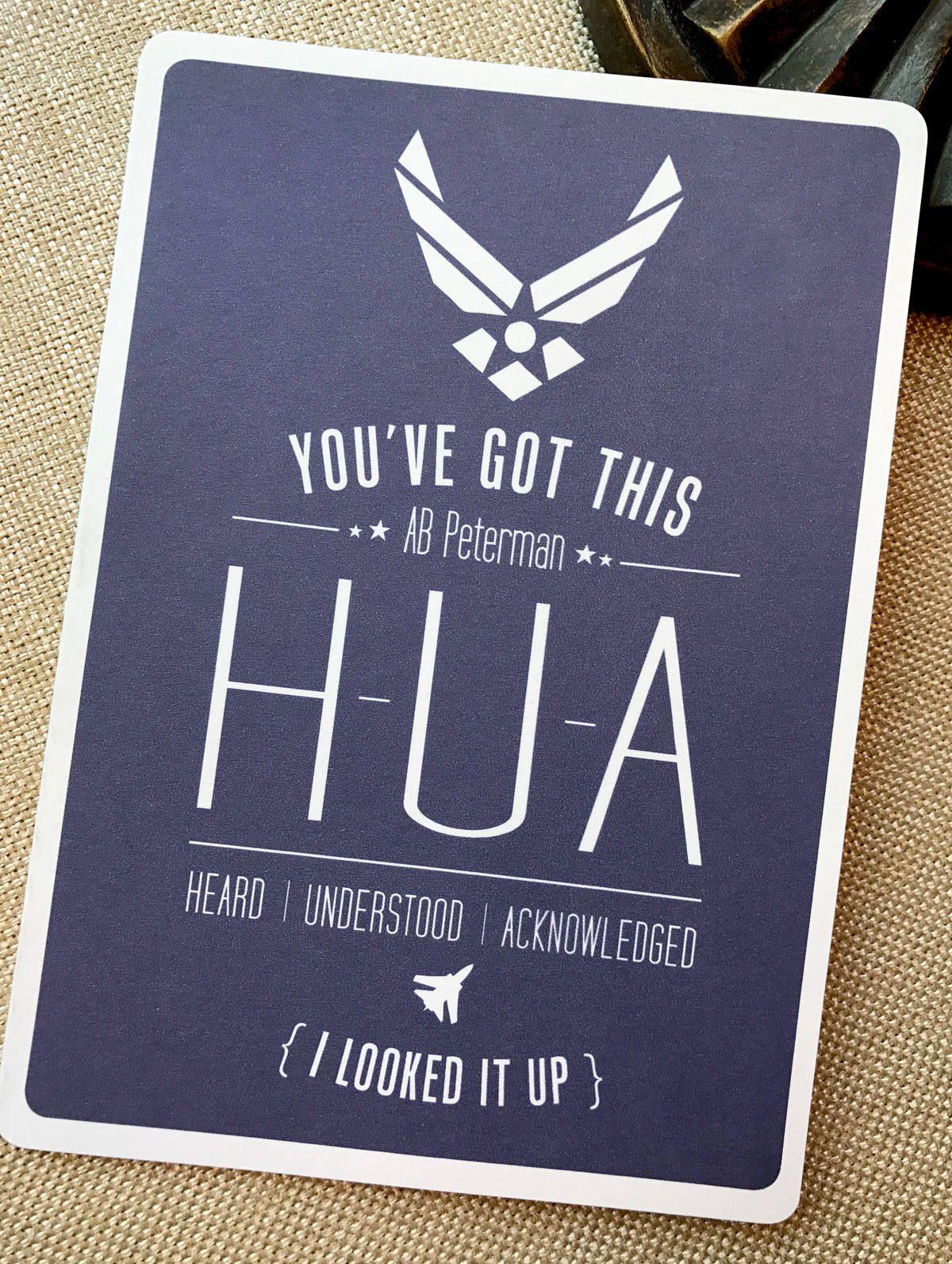 1#, Air Force Card, Basic Training Card, Military