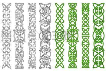 simbolos celtas: Céltico verde adornos y elementos para adornos medievales