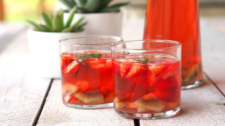 Erdbeer Kiwi Eistee