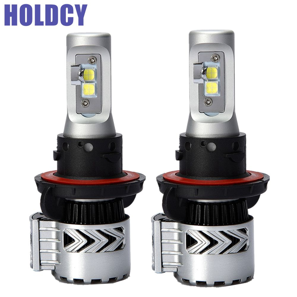 Holdcy H13 Led Car Headlight Bulb 72w 12000lm All In One Automobile Led Headlamp Drl Fog Lamps Hi Lo Beam Car L Led Headlights Cars Car Headlight Bulbs Car Led