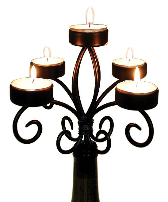 Wine Bottle Candelabrum
