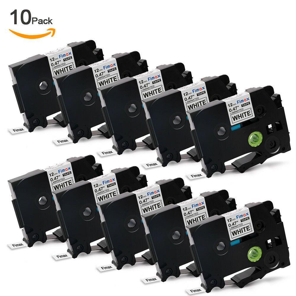 Sponsored Ebay 10 Pk Brother Tz231 Tze231 P Touch Compatible Black On White Label Tape12mm X 8m Label Maker Tape White Label Label Printer
