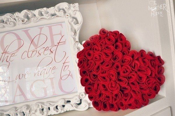 Открытка розы на сердце своими руками, поздравление