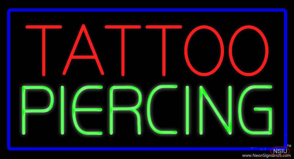 Tattoo Piercing Blue Border Real Neon Glass Tube Neon Sign,Affordable and durable,Made in USA,if you want to get it ,please click the visit button or go to my website,you can get everything neon from us. based in CA USA, free shipping and 1 year warranty , 24/7 service