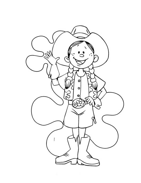 Pin On Cowgirl Coloring Pages