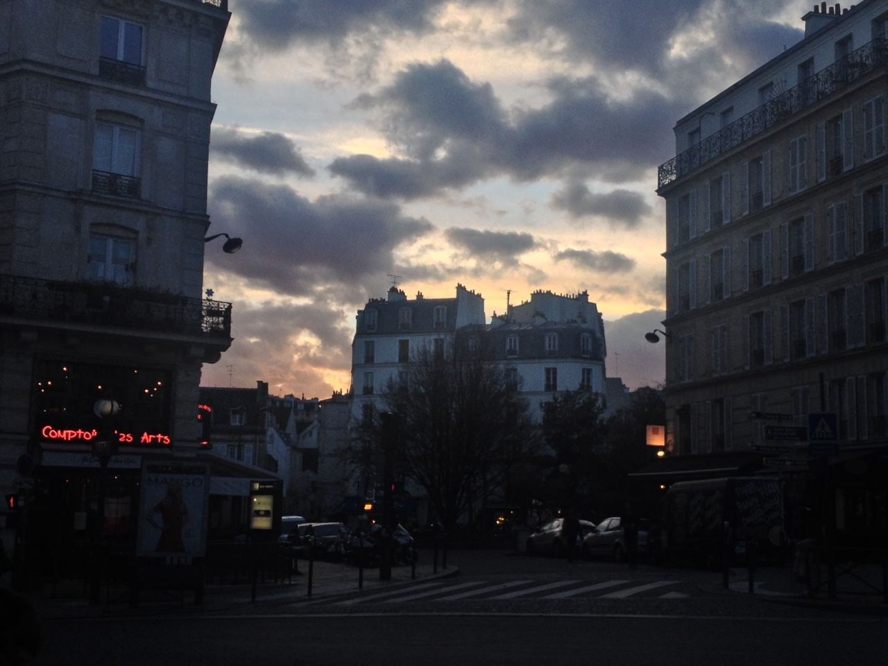 "bakednbroken: ""Paris was surprisingly beautiful yesterday. The sky looked like an emotion. """